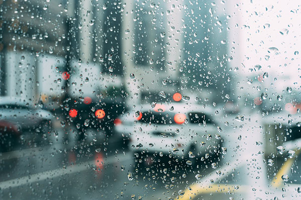driving in the rain in San Francisco